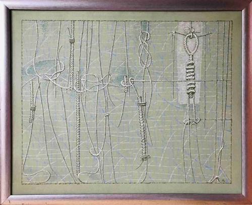 Obraz do salonu artysty Janusz Przybylski pod tytułem Zielone wspomnienie