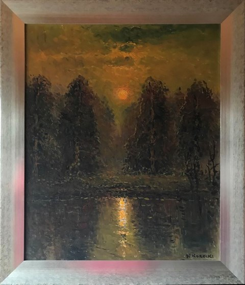 Obraz do salonu artysty Wiktor Korecki pod tytułem Zachód słońca