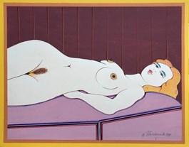 Obraz do salonu artysty Henryk Płóciennik pod tytułem Akt leżący