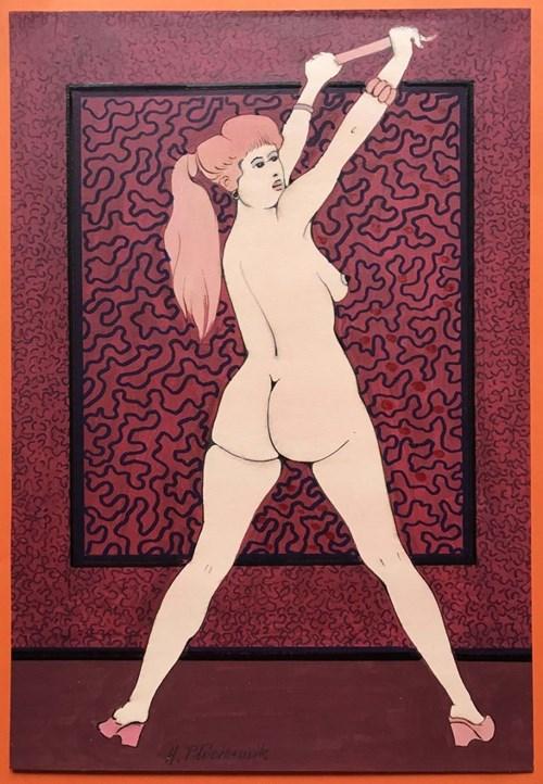 Obraz do salonu artysty Henryk Płóciennik pod tytułem Kobieta Stojąca