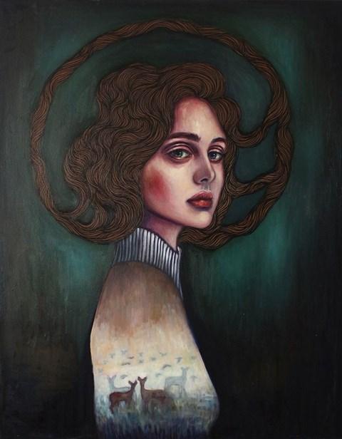 Obraz do salonu artysty Viola Bąbol pod tytułem Muza. Letni poranek