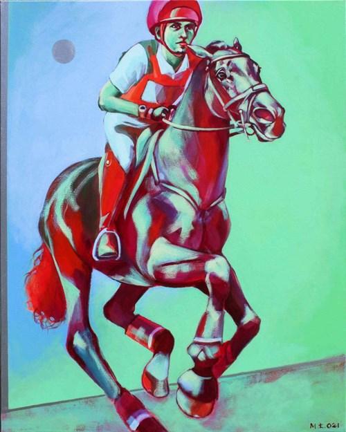 Obraz do salonu artysty Małgorzata Łodygowska pod tytułem Biegnij
