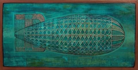 Obraz do salonu artysty Grzegorz Klimek pod tytułem Lazurowy sterowiec