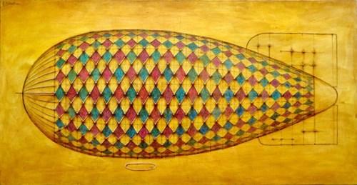 Obraz do salonu artysty Grzegorz Klimek pod tytułem Lot na Marsa