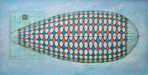 Obraz do salonu artysty Grzegorz Klimek pod tytułem W chmurach
