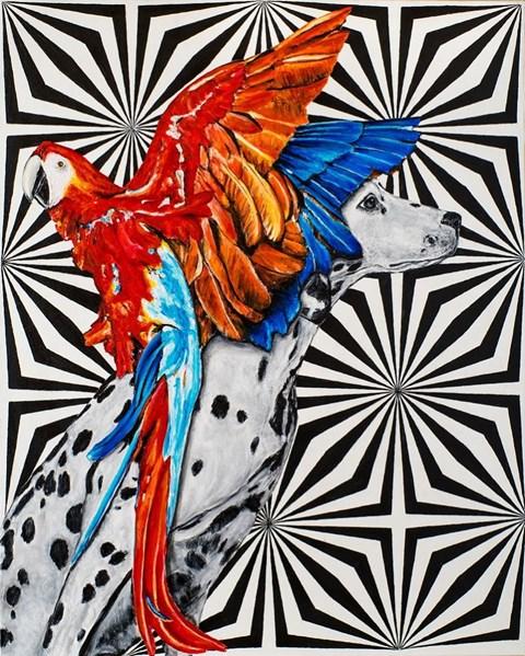 Obraz do salonu artysty Sławomir Setlak pod tytułem Myśli barwne