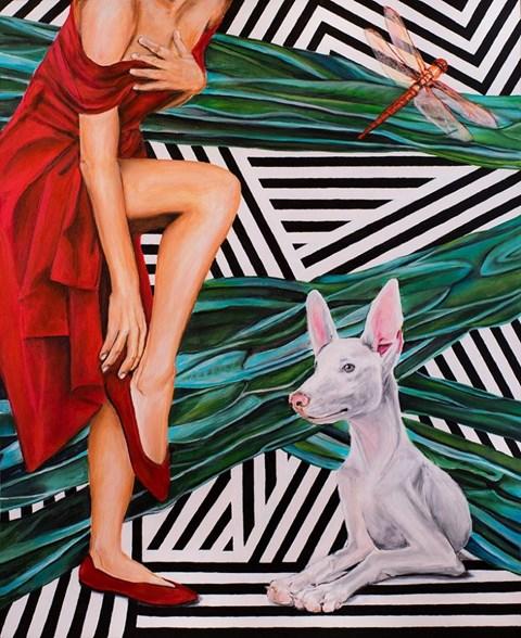 Obraz do salonu artysty Sławomir Setlak pod tytułem Księżycowe wspomnienia