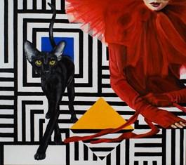 Living room painting by Sławomir Setlak titled Secret
