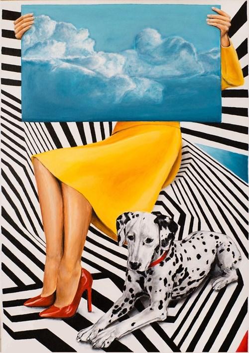 Obraz do salonu artysty Sławomir Setlak pod tytułem Myśli niebieskie