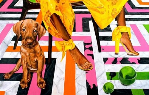 Obraz do salonu artysty Sławomir Setlak pod tytułem Barwne rozmyślania