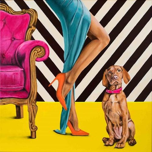 Obraz do salonu artysty Sławomir Setlak pod tytułem Barwne rozmyślania II