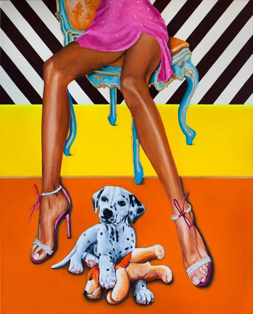 Rzeźba do salonu artysty Sławomir Setlak pod tytułem Orange joy