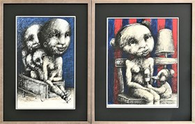 Femme Fatale i Hommage to Helnwein (dyptyk)