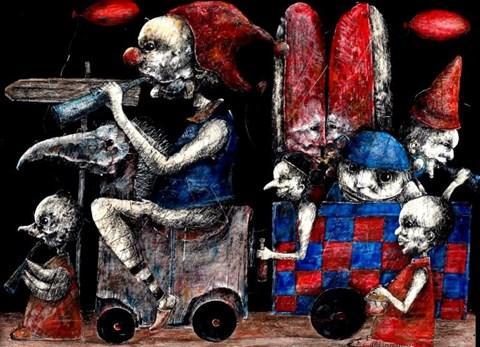 Obraz do salonu artysty Piotr Kamieniarz pod tytułem Karnawał II