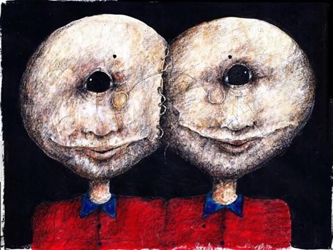 Obraz do salonu artysty Piotr Kamieniarz pod tytułem Cyklop Syjamski