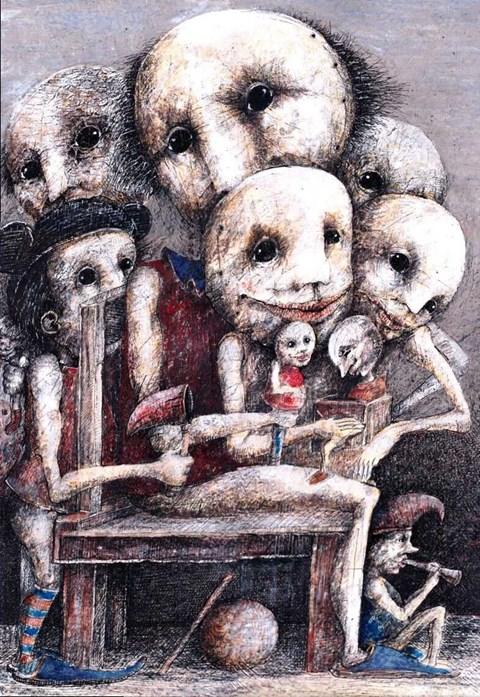 Obraz do salonu artysty Piotr Kamieniarz pod tytułem Złodzieje maskotek II