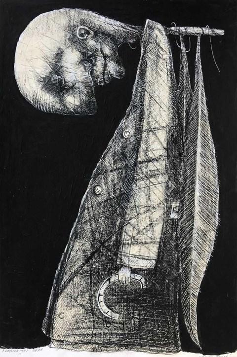 Obraz do salonu artysty Piotr Kamieniarz pod tytułem Upadły anioł