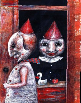 Obraz do salonu artysty Piotr Kamieniarz pod tytułem Nieszczęśliwa Miłość II