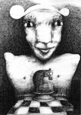 Obraz do salonu artysty Piotr Kamieniarz pod tytułem Chess Player