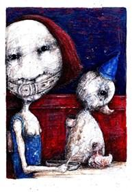 Obraz do salonu artysty Piotr Kamieniarz pod tytułem Ty nie chcesz do mnie mówić, ja nie chcę Ciebie słuchać
