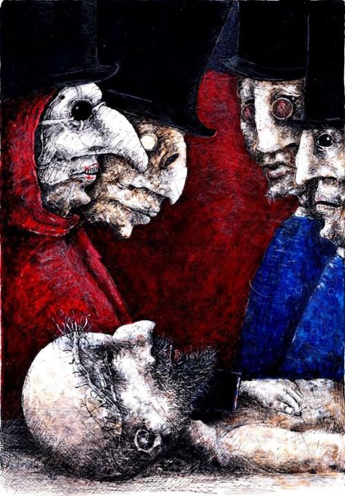 Obraz do salonu artysty Piotr Kamieniarz pod tytułem Konsylium