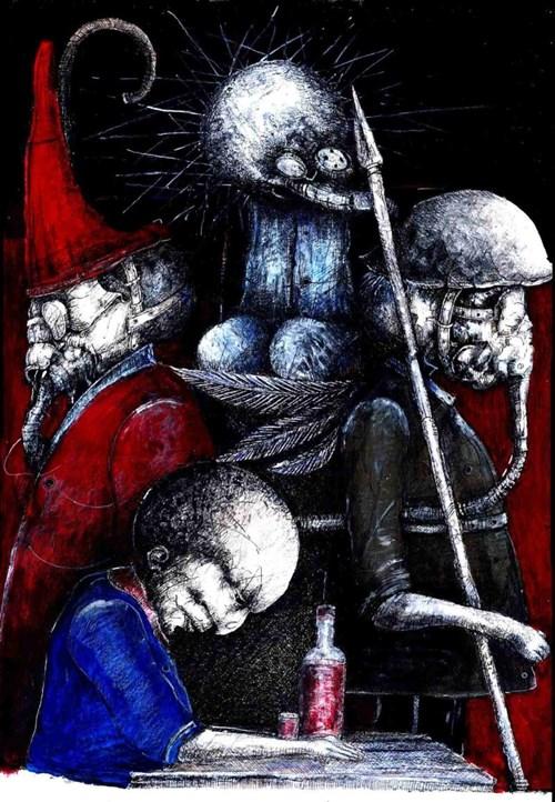 Obraz do salonu artysty Piotr Kamieniarz pod tytułem I tylko ty mnie nie opuściłeś, Judaszu