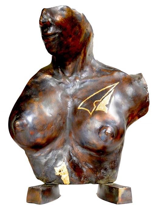 Rzeźba do salonu artysty Piotr Bubak pod tytułem Popiersie kobiety