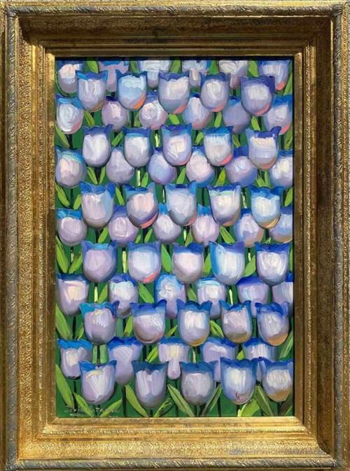 Obraz do salonu artysty David Pataraia pod tytułem Moje tulipany są piękne