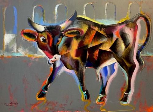 Obraz do salonu artysty David Pataraia pod tytułem Bochola