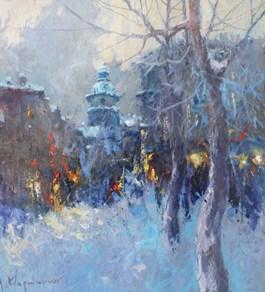 Obraz do salonu artysty Anatol Martyniuk pod tytułem Motyw ze Lwowa
