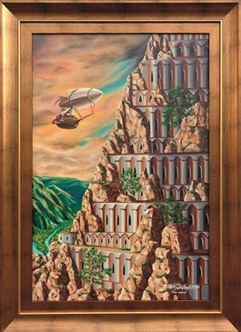 Obraz do salonu artysty Krzysztof Żyngiel pod tytułem Wspomnienie skalnego imperium
