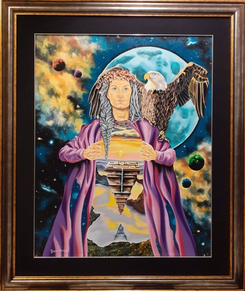 Obraz do salonu artysty Krzysztof Żyngiel pod tytułem Bogini wyzwolenia