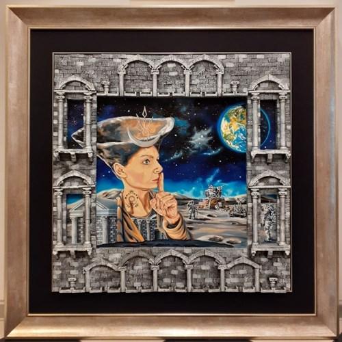 Obraz do salonu artysty Krzysztof Żyngiel pod tytułem Ciemna strona księżyca