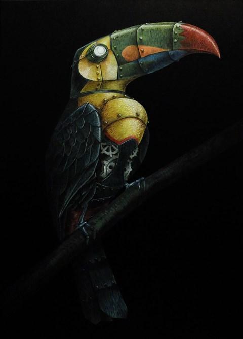 Obraz do salonu artysty Emil Goś pod tytułem Tukan tęczodzioby