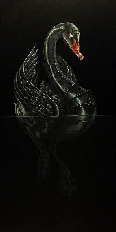 Obraz do salonu artysty Emil Goś pod tytułem Czarny Łabędź