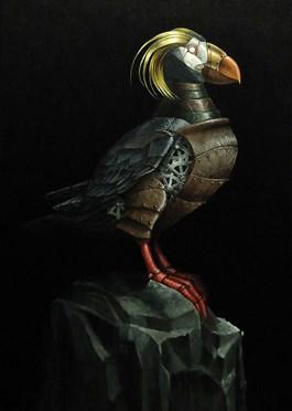 Obraz do salonu artysty Emil Goś pod tytułem Maskonur złotoczuby