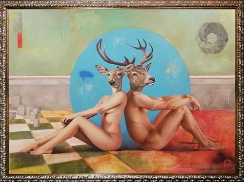 Obraz do salonu artysty Lech Bator pod tytułem Olivia&Jack
