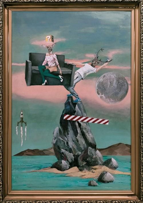 Obraz do salonu artysty Lech Bator pod tytułem Balance