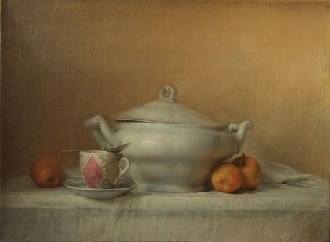 Obraz do salonu artysty Wiesław Nowakowski pod tytułem Martwa natura z wazą