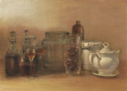 Obraz do salonu artysty Wiesław Nowakowski pod tytułem Martwa natura ze szkłem