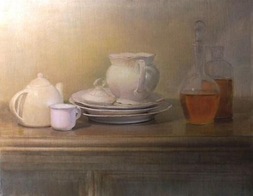Living room painting by Wiesław Nowakowski titled Fleeting Beauty 4