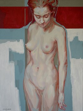 Living room painting by Marcin Jaszczak titled Nude I