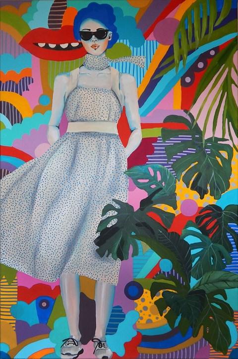 Obraz do salonu artysty Marcin Painta pod tytułem Ona, ona 4