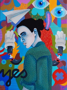 Obraz do salonu artysty Marcin Painta pod tytułem Yes