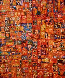 Obraz do salonu artysty Krzysztof Pająk pod tytułem Wielka gra