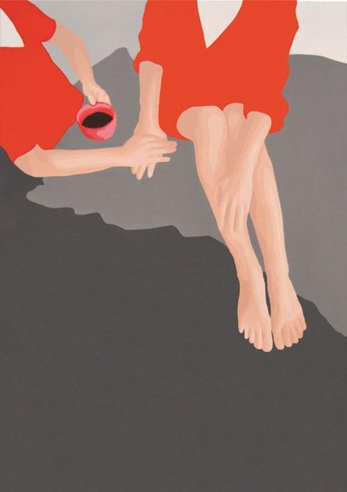 Obraz do salonu artysty Malwina Jagóra pod tytułem Mamy siebie, więc przetrwamy ten trudny czas