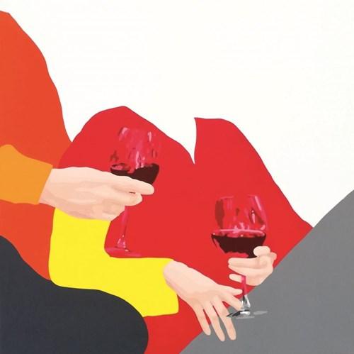 Obraz do salonu artysty Malwina Jagóra pod tytułem Upijmy się dziś miłością