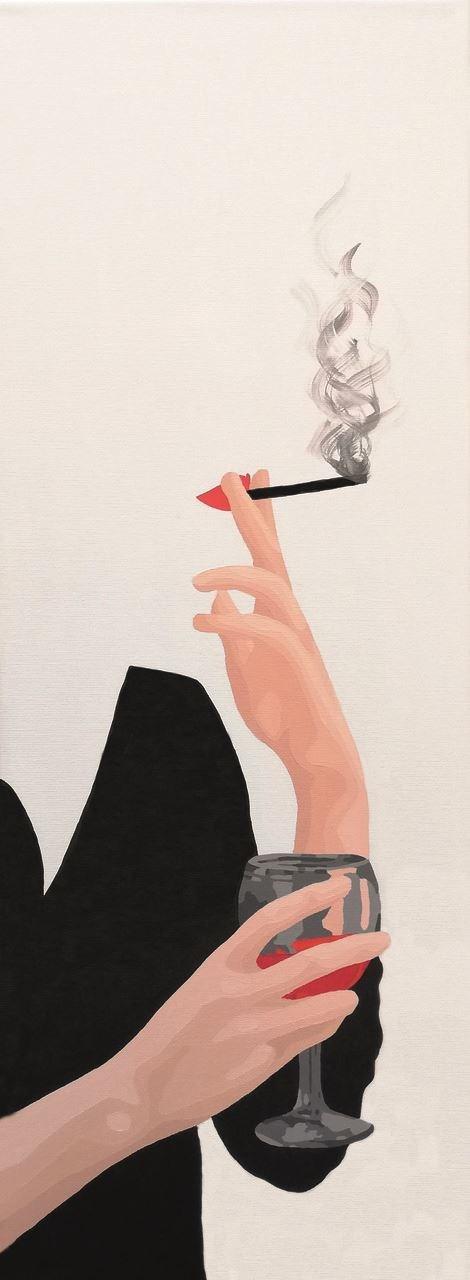 Obraz do salonu artysty Malwina Jagóra pod tytułem Smakiem zachwyca i onieśmiela