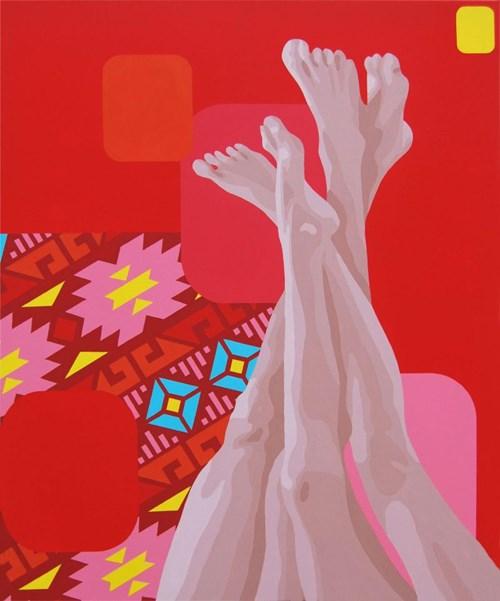 Obraz do salonu artysty Malwina Jagóra pod tytułem Najlepiej wyglądasz ubrana w miłość