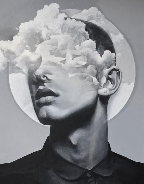 Obraz do salonu artysty Łukasz Biliński pod tytułem Feet on the Ground, Head in the Sky